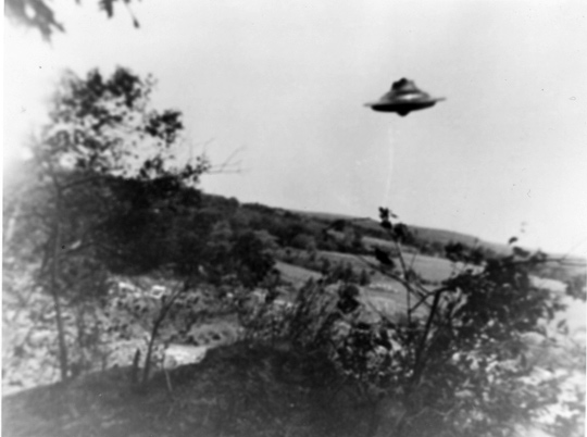Forth UFO photo taken by Harold Trudel in Woonsocket, Rhode Island, June 10th, 1967. (image credit: Harold Trudel, August C. Roberts)