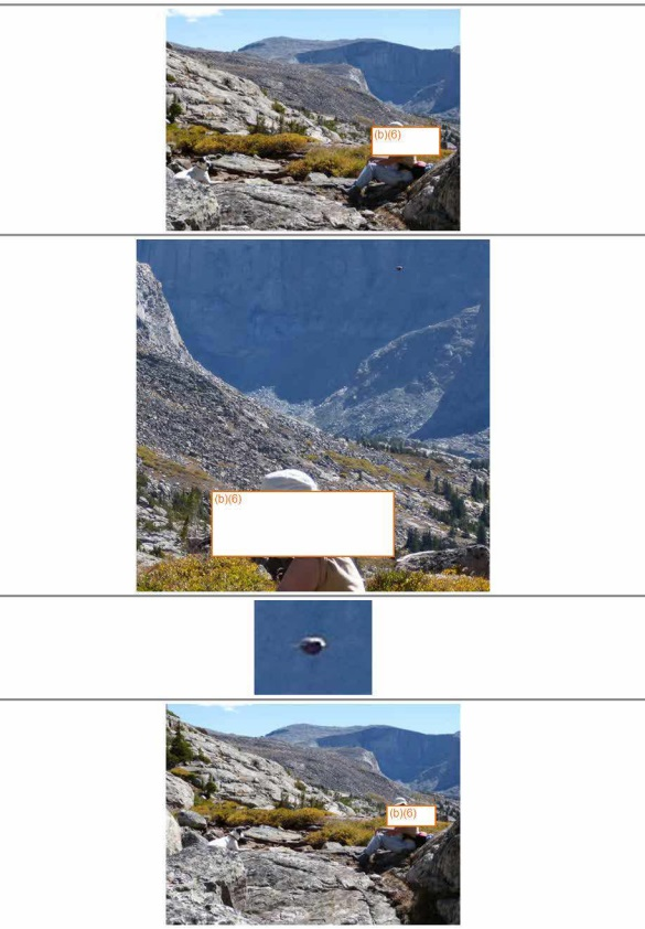 Images of suspect UFO at Bighorn National Forest provided to U.S. Forest Service. (Credit: U.S. Forest Service)