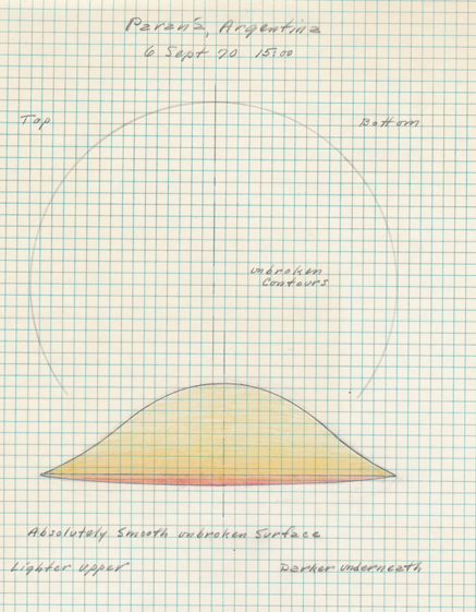 Original report diagram: Parana UFO