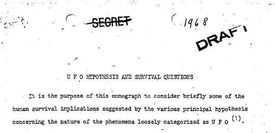 UFO Hypothesis document.