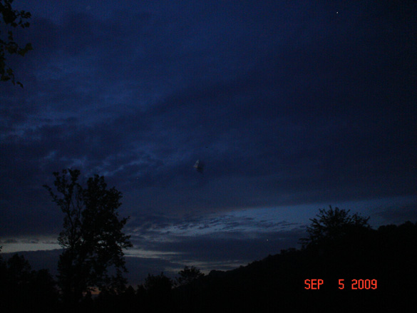 UFO photo taken in Kentucky in 2009. (Credit: MUFON)