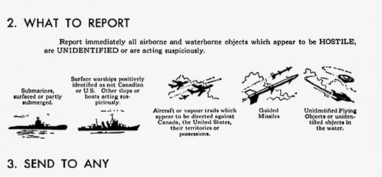 Section of poster showing what to report.