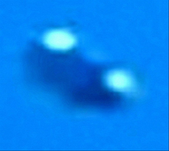 Close-up of the UFO caught on video in Rome. (Credit: C.UFO.M)