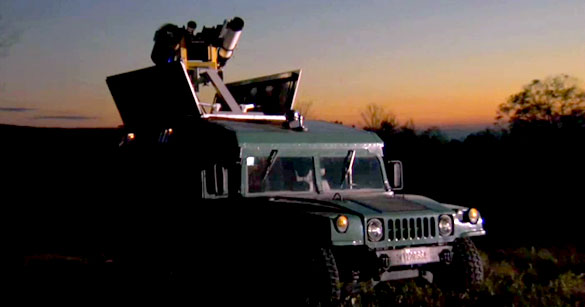 Doug's camera equipped Hummer kitted out for UFO spotting.