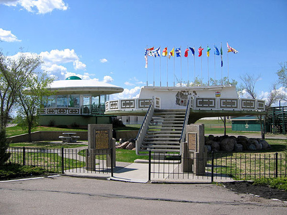 St. Paul's UFO Landing Pad. (Credit: Town of St. Paul)