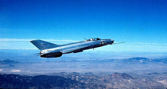 U.S. acquired MiG-21 being tested near Area 51. (Credit: DOD Defense Intelligence Agency)