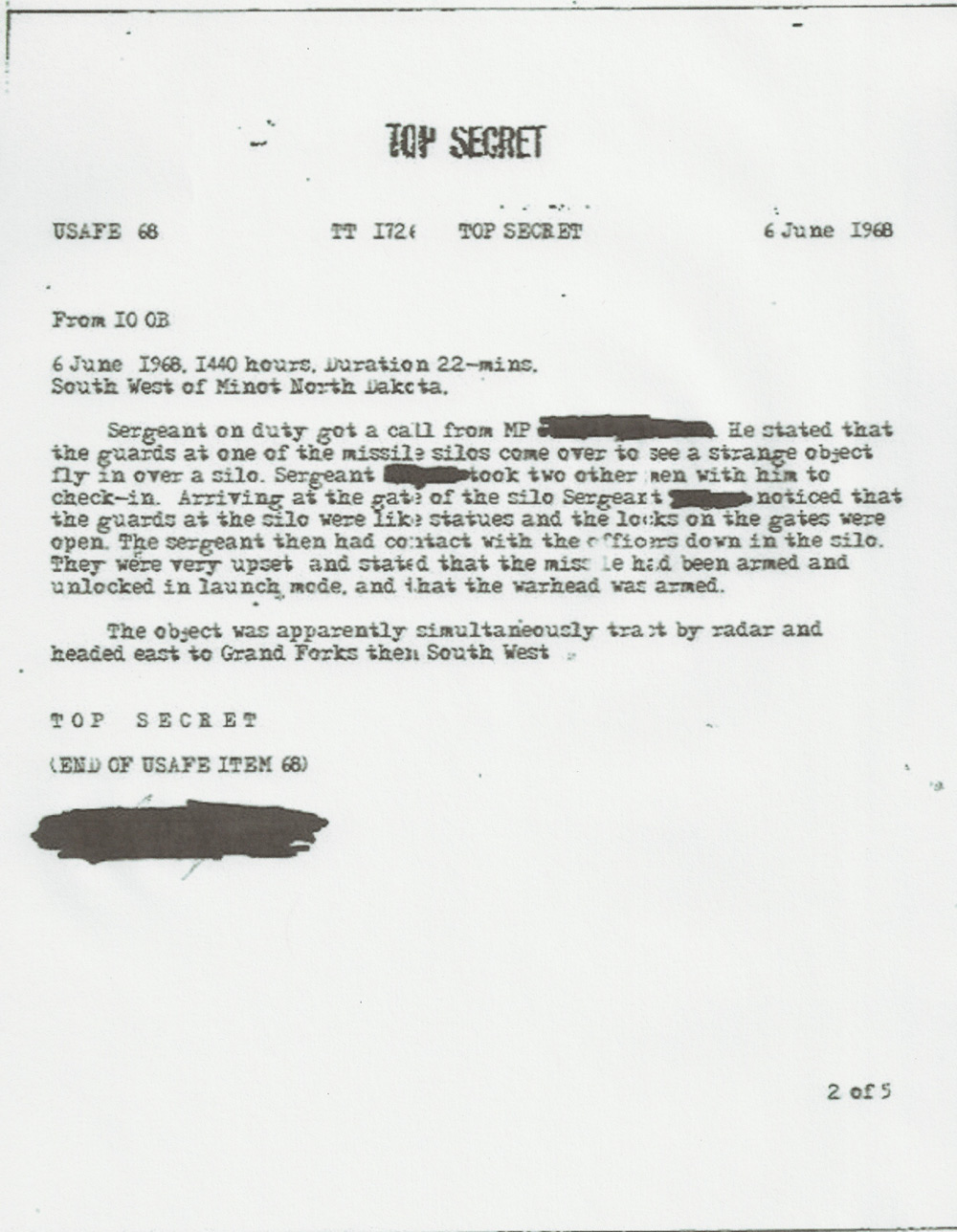 Alleged document linking UFOs and Nukes | Openminds.