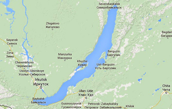 Map of Ulan Ude and Lake Baikal. (Credit: Google Maps)