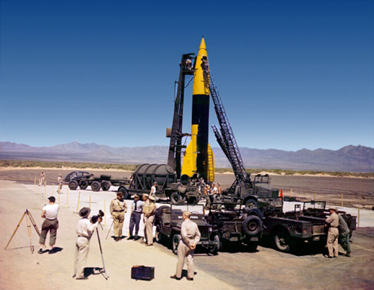 V-2 rocket at White Sands Proving Ground.