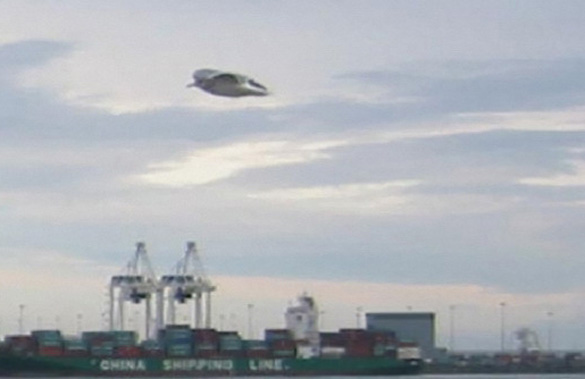 A UFO was sighted over Vancouver Island in 2005. The photo taken is considered one of the best on record (caption from Innisfail Province). (Credit: Innisfail Province)