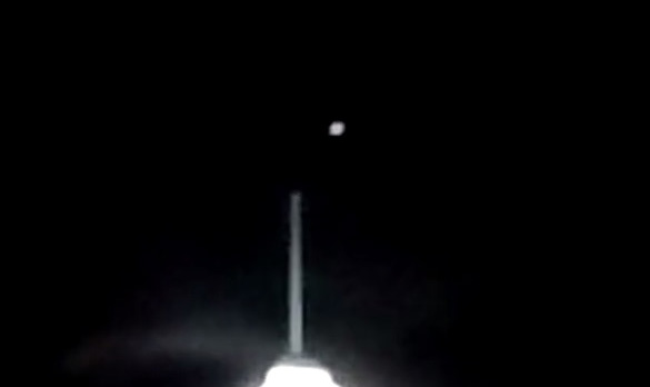 Close-up of the strange object caught on video over the Westin Virginia Beach Town Center. (Credit: YouTube/Mandy AMF)