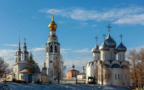The Vologda Kremlin. (Credit:Vitaly Alyabyev/Wikimeida Commons)