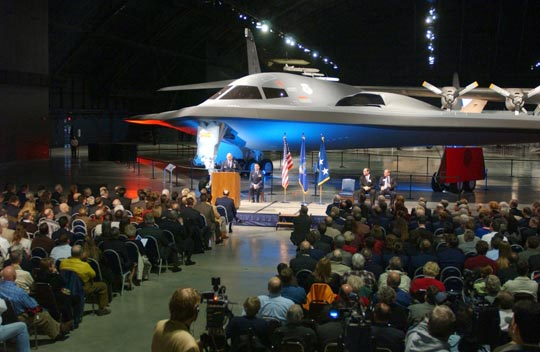 Stealth bomber being placed into the Air Force Museum at Wright Patterson (image: USAF).