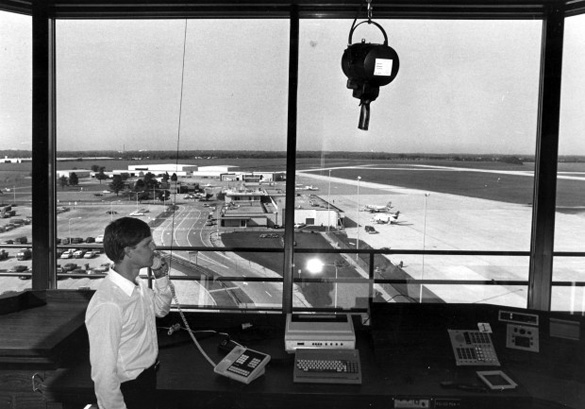 View from the Waterloo Regional Airport tower in 1988. (Credit: WCFCourier.com)
