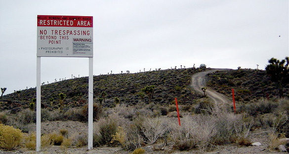 Area 51 warning signs.