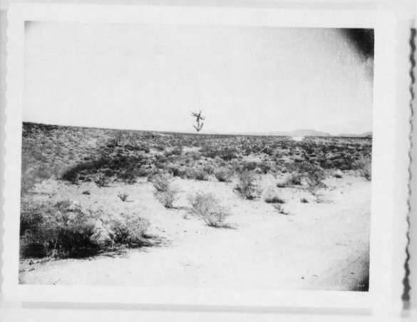 Photo of the area Zamora saw the object. (Credit: U.S. Air Force Project Blue Book)