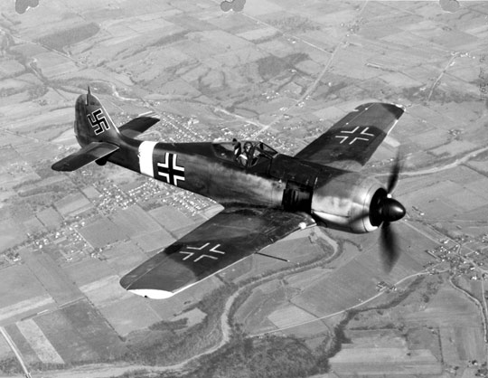 German Balkenkruez cross on a FW-190
