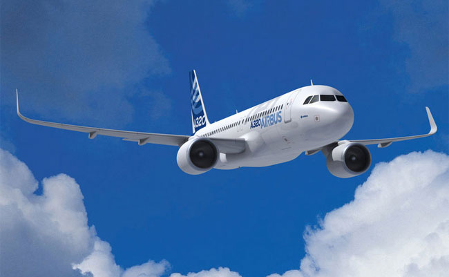 Rendering of an Airbus 320. (Credit: Airbus)