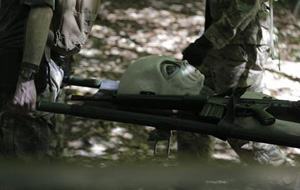 Alien on stretcher. (Credit: Ballahack Airsoft)
