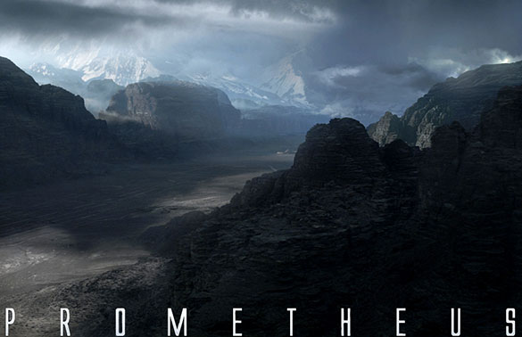"Extraterrestrial valley from a scene in ""Prometheus."" (Credit: 20th Century Fox)"