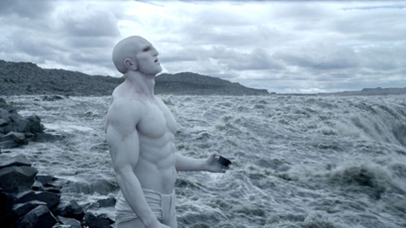 Alien seeding Earth with life in the movie Prometheus.