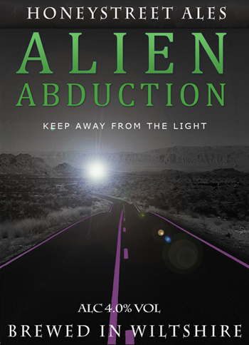 Alien Abduction Ale bottl label. (image credit: www.the-barge-inn.com)