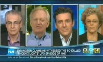 UFO panel on the Joy Behar show (credit: HLN)