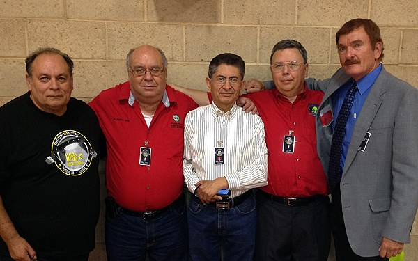 UFO researchers Ruben Uriarte, Gilbert Rivera, Carlos Guzman, Noe Torres, and Travis Walton at the 2013 Border Zone International UFO Festival. (Credit: Border Zone International UFO Festival/Noe Torres)