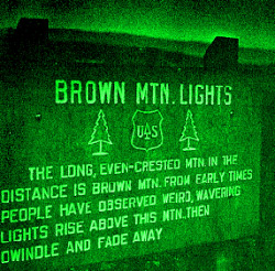 Brown Mountain Lights marker