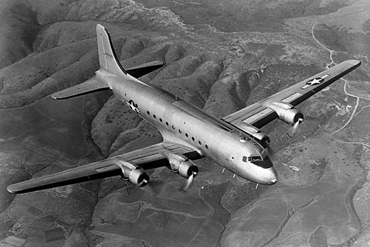 C-54 transport aircraft