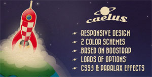 The Caelus website template. (Credit: themeforest.net/oxygenna)