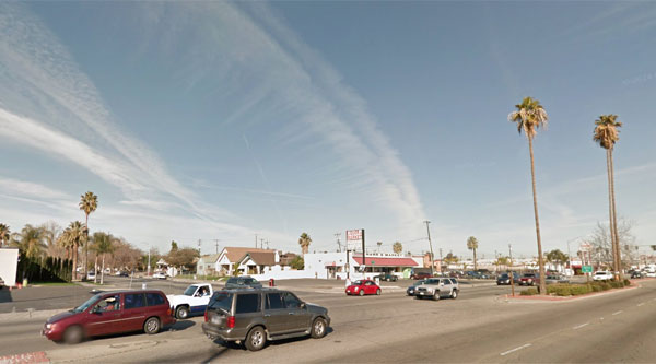 The witness recorded the UFO video just off Union Avenue in Central Bakersfield. (Credit: Google)