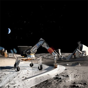 Using 3-D printers to colonize the Moon