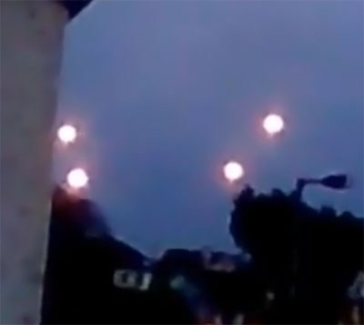 Fireball UFOs over Ireland. (Credit: Naktis Ireland/YouTube)