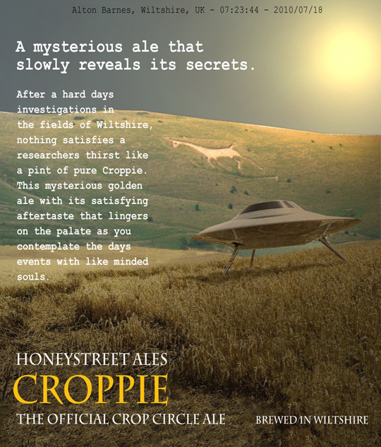 Croppie Ale poster. (image credit: www.the-barge-inn.com)