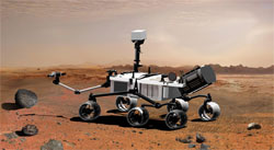 Artist's illustration of the Mars rover Curiosity (credit: NASA/JPL-Caltech)