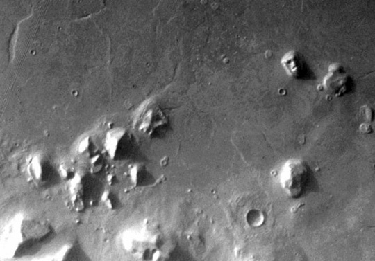 """Face on Mars"" (upper left) and other Mars anomalies."