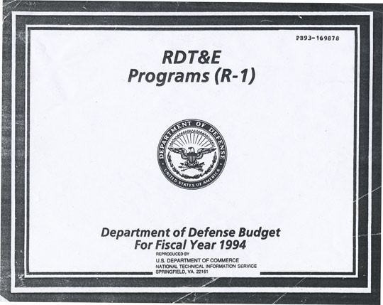 Department of Defense Budget 1994