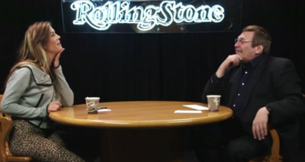 Elliphant and Lee Speigel at the Rolling Stone Studio. (Credit: Rolling Stone)