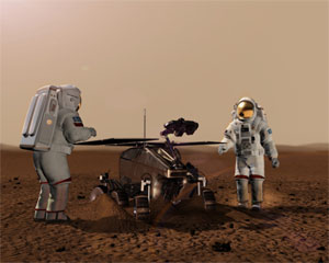 Illustration of the ExoMars rover (credit: ESA - AOES Medialab)