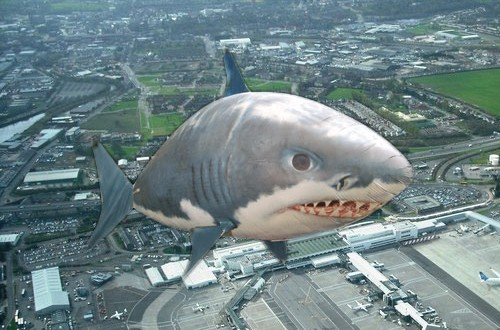 [UPDATE] Is a flying shark the UFO that almost collided with a plane?