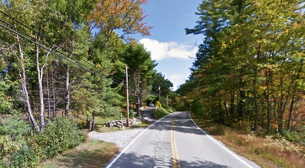 The Pittsfield, NH witness reported one UFO moving inside of another. (Credit: Google)