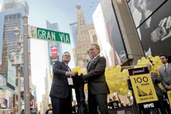 Gran Via celebration in Times Square (credit: Henry Lam/The Epoch Times)