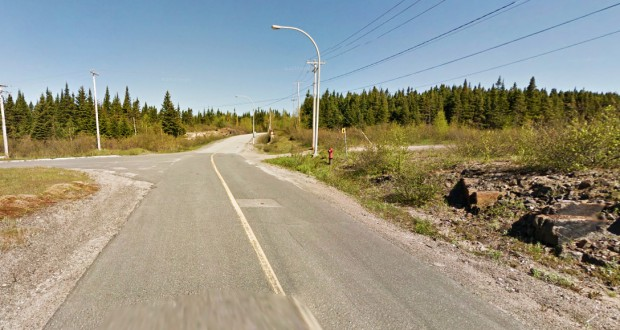 The object was described as 'blacker than black' and completely silent. Pictured: Port-Cartier, Quebec, Canada. (Credit: Google)