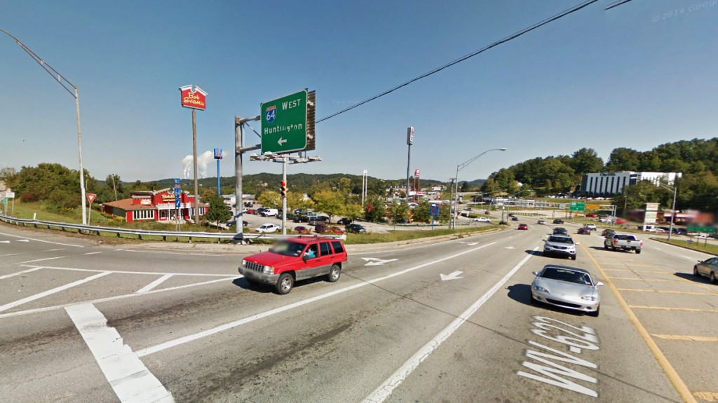 The witness read a recent story about multiple triangle-shaped objects moving low over Marmet, West Virginia, and filed his 2013 case of an object videotaped in nearby Cross Lanes. Pictured: Cross Lanes, West Virginia. (Credit: Google)