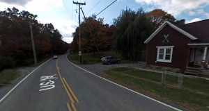 The witness was driving along I-77 near Ghent, WV, when the low flying object was seen. Pictured: Ghent, WV. (Credit: Google)