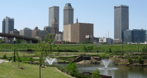 Downtown Tulsa skyline. (Credit: Wikimedia Commons)