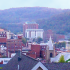 Normally quiet West Virginia has four new cases of low flying UFOs in October alone. Five other cases this year have been closed as Unknowns. Pictured: Morgantown, West Virginia. (Credit: Wikimedia Commons)