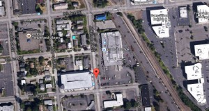 The witness first saw the UFO as he was driving near the post office along Jefferson Street, Olympia, WA, about 11 a.m. on February 23, 2015. (Credit: Google)