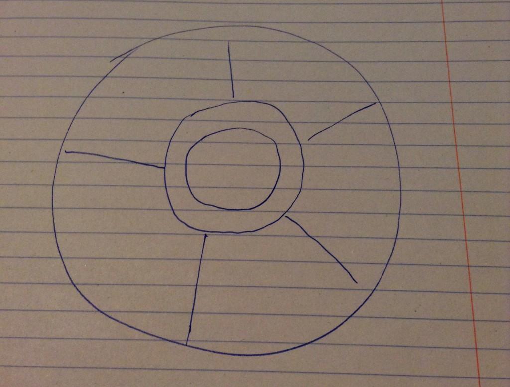 Witness illustration of the object seen on September 1, 2011. (Credit: MUFON)